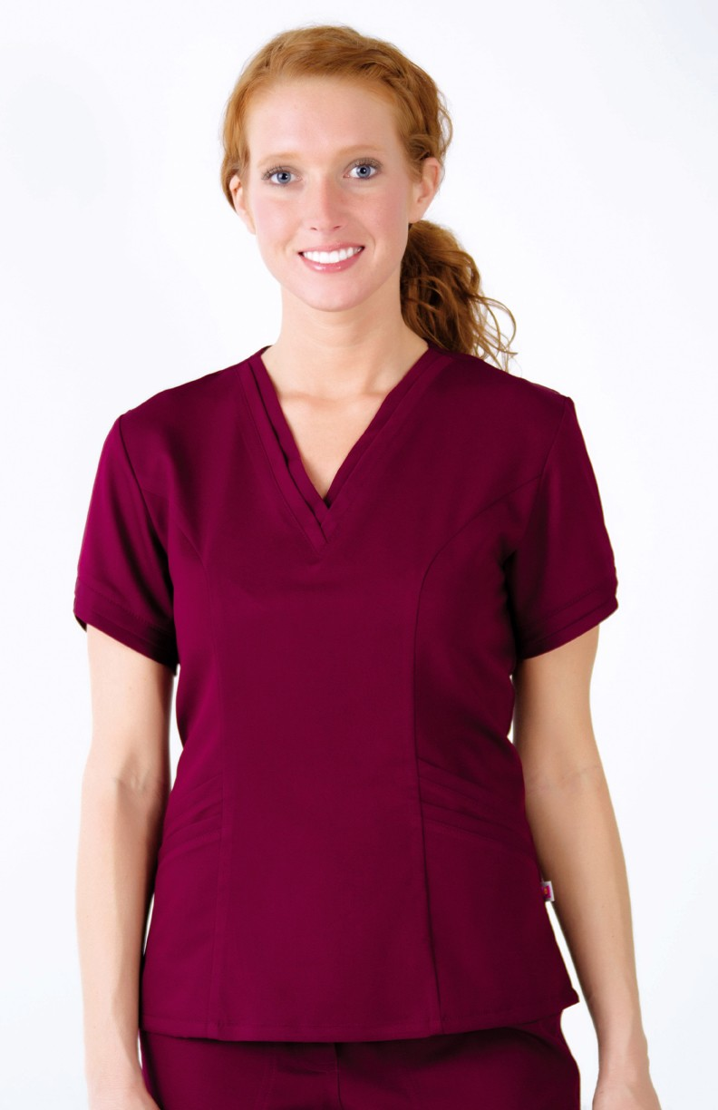 Double neckline women scrub